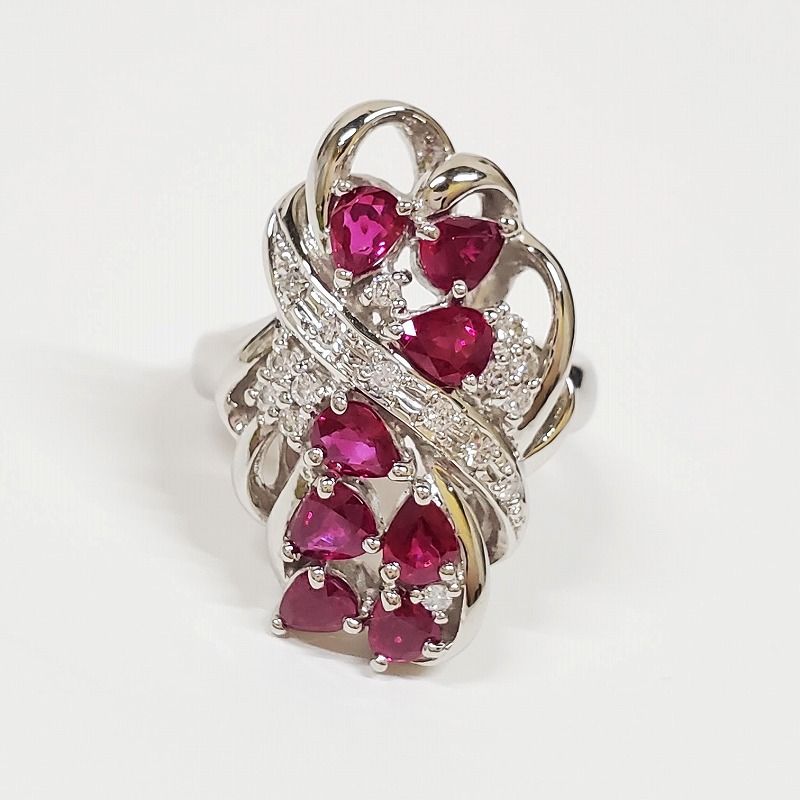 プラチナ,ルビー,ダイヤ,指輪